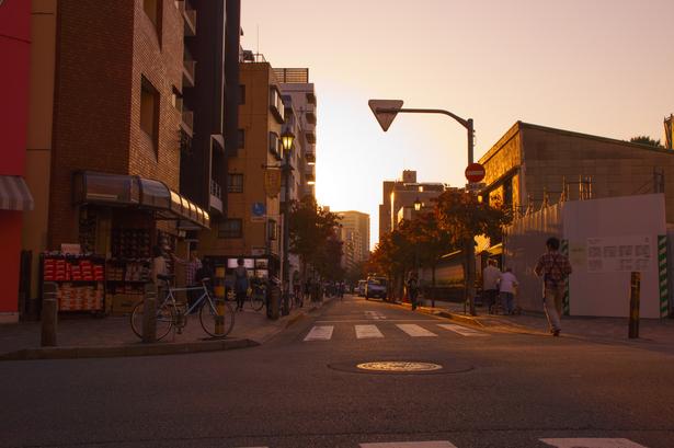 夕方の商店街